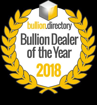 Bullion Dealer of the Year 2018 Badge