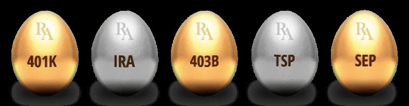 401(k), IRA, 403(b), TSP, SEP to Gold IRA Rollover